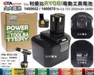 【久大電池】利優比 RYOBI 電動工具電池 1400652 1400670 12V 2000mAh 24Wh