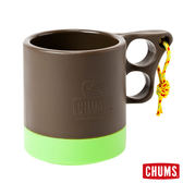 CHUMS 日本 露營野餐 保溫保冷馬克杯 棕/萊姆 ( 250ml) CH621048B015