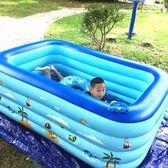 兒童充氣游泳池家用嬰兒游泳桶寶寶加厚小孩玩具成人超大號洗澡池