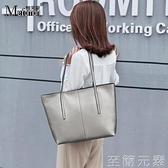 牛皮通勤女包新款時尚單肩大包包大容量簡約托特包手提包 至簡元素