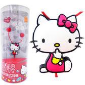 Hello Kitty  糖果風造型耳機-紅色 KT-E14
