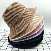 夏季遮掩禮帽 英倫爵士出游度假沙灘草帽m64
