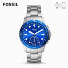 FOSSIL HYBIRD 智能手錶 FB-01-海軍風銀藍 42MM FTW1198