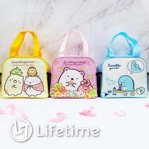 ﹝角落生物雙側水壺便當袋﹞正版 便當袋 餐袋 手提袋 雙側網 水壺〖LifeTime一生流行館〗