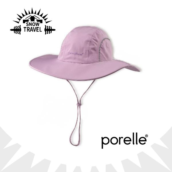 【SNOW TRAVEL 英國防水透氣遮陽大盤帽《紫》】大圓盤帽/休閒帽/防曬/適登山健行/AH-16