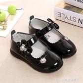 童鞋女童皮鞋黑色公主鞋春秋季軟底寶寶鞋子兒童單鞋小學生演出鞋