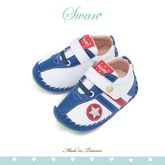 Swan天鵝童鞋-史蒂芬學步寶寶鞋1585-白