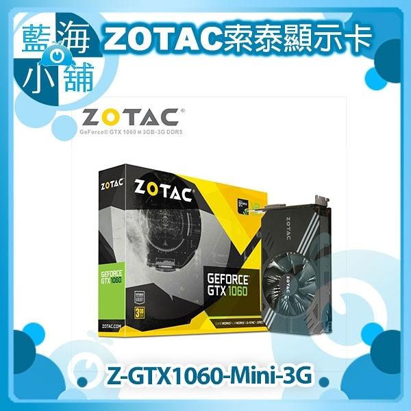 ZOTAC 索泰 GTX 1060 MINI 3G顯示卡
