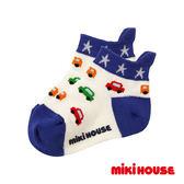 MIKI HOUSE  日本製 小汽車透氣短襪(白)