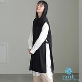 「Winter」【SET ITEM】側開衩長版針織背心洋裝+長袖襯衫洋裝 - earth music&ecology