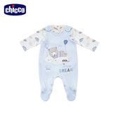 chicco-粉彩-兩件式背心兔裝-藍