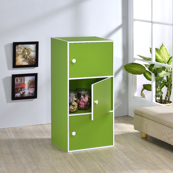 ONE HOUSE-DIY-三層門櫃/收納櫃/多層櫃/書架/置物櫃/高低櫃/展示櫃