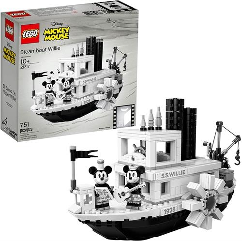 LEGO 樂高 Ideas 21317 Disney Steamboat Willie Building Kit , New 2019 (751 Piece)