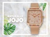 【時間道】NATURALLY JOJO  復古時尚方形腕錶 / 全玫瑰金米蘭帶(JO96930-13R)免運費
