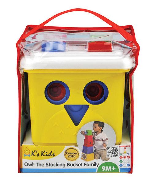 【Ks kids 奇智奇思 】 貓頭鷹形狀堆疊組