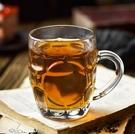 酒杯 玻璃杯家用水杯啤酒杯加厚耐熱客廳帶把鋼化喝水茶杯家庭杯子套裝【快速出貨八折鉅惠】