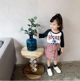 女寶寶長袖上衣寶寶體恤兒童裝秋季卡通2018新款1-3歲女童洋氣t恤