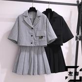 大碼連身裙微胖梨形身材穿搭遮肚子顯瘦兩件套裝【左岸男裝】