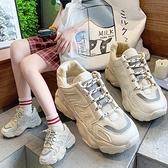 運動鞋 潮老爹鞋子女2021春季新款網紅百搭厚底增高超火白色運動鞋【快速出貨八折搶購】