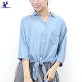 【秋冬新品】American Bluedeer - 牛仔綁帶襯衫
