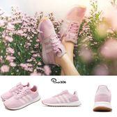 adidas 休閒慢跑鞋 FLB_Runner W 粉紅 白 膠底 女鞋 Flashback 粉粉DER【PUMP306】 DB2119
