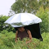 披風遮陽傘披風背傘防曬傘可背式雨傘擋雨遮陽直立傘采茶農夫釣漁ATF 格蘭小舖