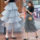 2020年夏季新款韓版復古碎花雪紡半身裙溫柔風少女蛋糕蓬蓬裙 LF5860【極致男人】