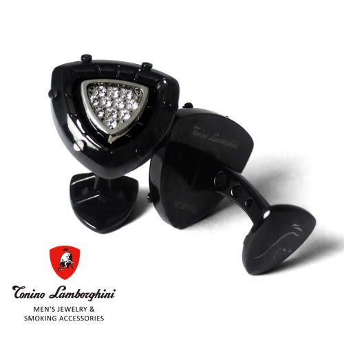 義大利 藍寶堅尼精品 - SPYDER Collection 袖扣(黑色) ★ Tonino Lamborghini 原廠進口 時尚必備行頭 ★