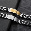 《 QBOX 》FASHION 飾品【B100N971】精緻個性復古歐美經文十字架鈦鋼手鍊/手環(二色)