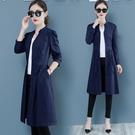 风衣外套 韓版寬鬆顯瘦小個子流行外套女早秋新款氣質薄款風衣中長款潮 瑪麗蘇