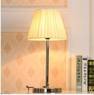 110V-220V 創意布藝檯燈溫馨臥室書房床頭閱讀寫字小檯燈--不送光源