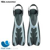 【AROPEC】開口式塑膠潛水蛙鞋(銀) - Leopard 美洲豹