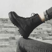 馬丁靴馬丁靴女英倫風2019新款百搭春秋季單靴短筒厚底鞋秋款機車短靴子 唯伊時尚