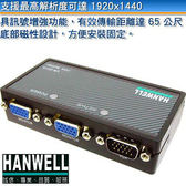 [良基電腦] HANWELL 捍衛科技 VS-201A 1對2 VGA 視訊同步分配器