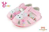 CHA CHA TWO 天鵝小童小兔子真皮學步涼鞋H6037 粉紅◆OSOME 奧森鞋業