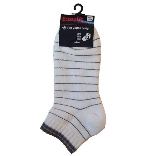 EF橫線運動襪-白(22~24cm)【愛買】
