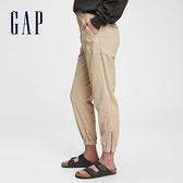 Gap女裝 時尚工裝風寬鬆休閒褲 679043-卡其色