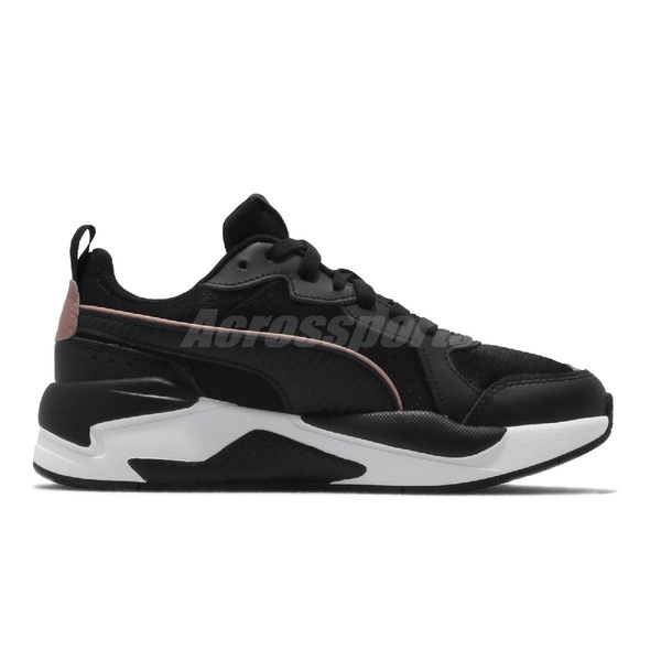Puma 休閒鞋 X-Ray Metallic Wns 黑 白 玫瑰金 女鞋 復古慢跑鞋 老爹鞋 運動鞋 【ACS】 37307201