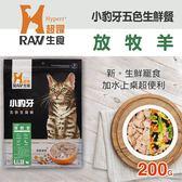 【毛麻吉寵物舖】HyperrRAW超躍 小豹牙五色生鮮餐 放牧羊口味 200克