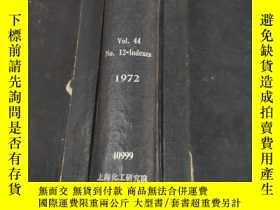 二手書博民逛書店analytical罕見chemistry vol.44 nos.12-indexes 1973 (分析化學)