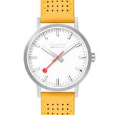 MONDAINE 瑞士國鐵Classic經典系列腕錶-40mm/金絲雀黃 66016BE