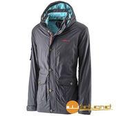荒野 Wildland 男 絲絨防潑防風保暖外套 『深藍』A22916