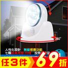 360度旋轉 LED人體感應燈小夜燈 桌燈 戶外露營燈 走廊 樓梯 玄關壁燈【AF06048】 i-Style居家生活