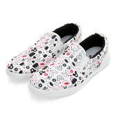 Disney  趣味俏皮 滿版塗鴉手繪懶人鞋-白