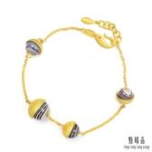點睛品 g*collection系列 時尚圓形瑪瑙純金手鍊