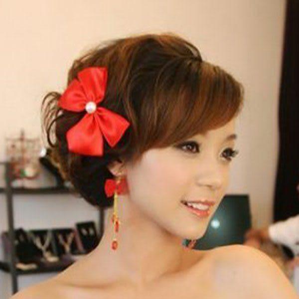 新娘發飾紅色頭飾- 031