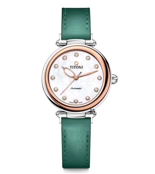 TITONI 梅花麥 瑞士 時尚 機械錶(23978 SRG-STG) 快拆/玫塊金框
