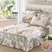 床裙夾棉棉質單件三件套床罩床裙式全棉加厚保護床單床套防塵床群100%