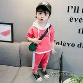 女寶寶運動套裝春秋新款女童1-2-3-4歲洋氣兩件套中小兒休閒童裝5
