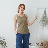 【Tiara Tiara】 純棉舒適無袖內搭背心(紅/藍/紫/綠/黃)